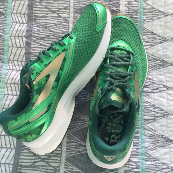 c325749010543 Brooks Shoes - New Brooks Launch Shamrock Running Shoes Green 10
